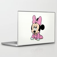minnie mouse Laptop & iPad Skins featuring Cute baby Minnie Mouse by Yuliya L