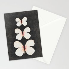 three pink butterflies Stationery Cards