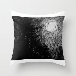 Moonlit trees Throw Pillow