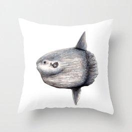 Ocean Sunfish (Mola mola) Throw Pillow