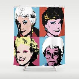 The Golden Girls Pop Art Shower Curtain