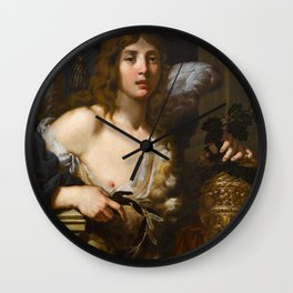 Alessandro Rosi - Allegory of the Virtue of Love (1680s) Wall Clock