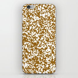 Small Spots - White and Golden Brown iPhone Skin