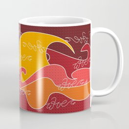 Waves V red colors V Duffle Bags Coffee Mug