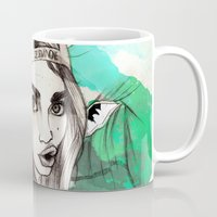 cara delevingne Mugs featuring CARA DELEVINGNE: THE FACE by Ismael Aguilar Bonet