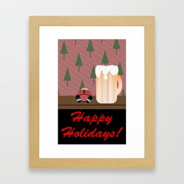 Drunken Holidays! Framed Art Print