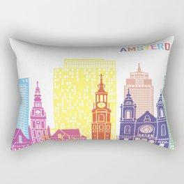 City Skyline Amsterdam Rectangular Pillow