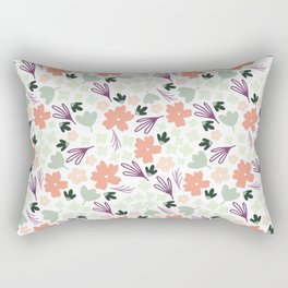 Muted Spring Floral Colors, Seamless Pattern, Fun Pattern, Spring Designs, Floral Design Rectangular Pillow