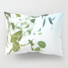 Nature photography green leaf I Pillow Sham