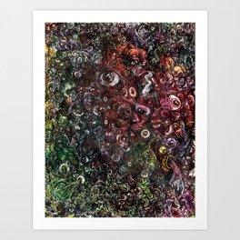Faces Everywhere Art Print