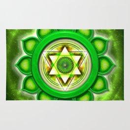 "Anahata Chakra - Heart Chakra - Series ""Open Chakra"" Rug"