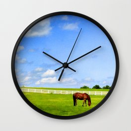Summer Grazing Wall Clock