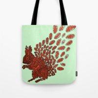 squirrel Tote Bags featuring Squirrel by Julia Kisselmann