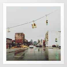Gratiot Ave - Detroit, MI Art Print