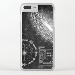 Galaxy and the structure of music! Clear iPhone Case
