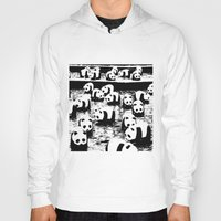 animal crew Hoodies featuring Crew by Panda Cool