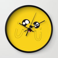 jake Wall Clocks featuring Jake by 7043