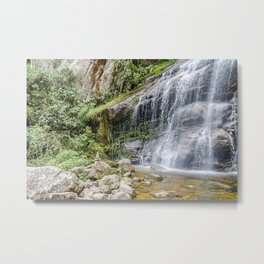 Waterfall bridal veil Metal Print