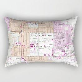 Vintage Map of Palm Springs California (1957) Rectangular Pillow
