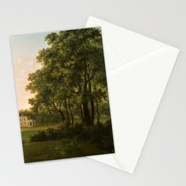 Classical Masteripiece 'A View of the South Front of Bower House, Havering-atte-Bower' by Abraham Pe Stationery Cards