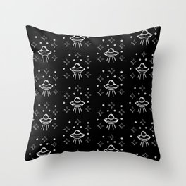 Spaceship  pattern Throw Pillow