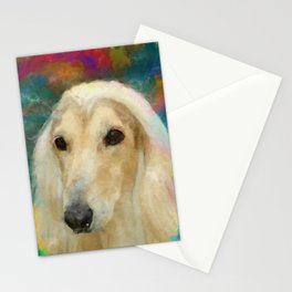 Afghan Hound Portrait Stationery Cards