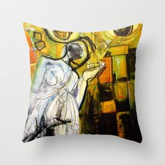Breakfast on Park Road Throw Pillow