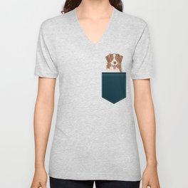 Hollis - Australian Shepherd gifts for dog owners pet lovers dog people gifts for dog person Unisex V-Neck