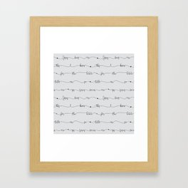 Jesus Loves Me - grey handwritten lyrics Framed Art Print