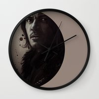 dracula Wall Clocks featuring Dracula by LindaMarieAnson