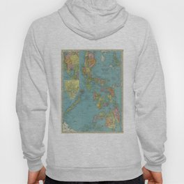 Vintage Map of The Phillipines (1903) Hoody