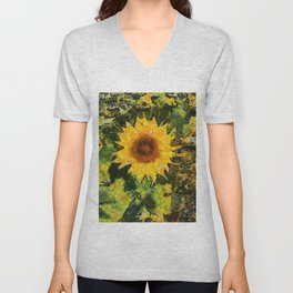 you can't have enought sunflowers Unisex V-Neck