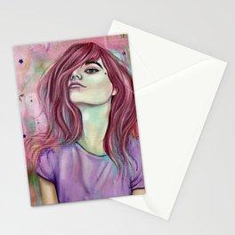 Unicorns and Starry Eyes Stationery Cards