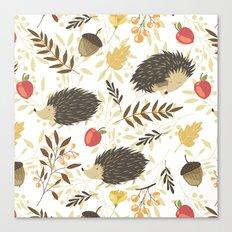 Cute hedgehogs Canvas Print