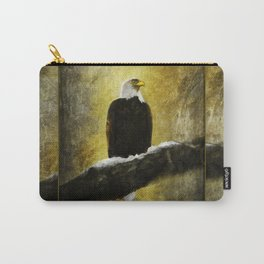 Bald Eagle on Snow Covered branch ~ Ginkelmier Inspired Carry-All Pouch
