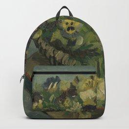 Basket of Pansies Backpack