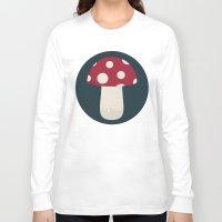 mushroom Long Sleeve T-shirts featuring mushroom by Emma S