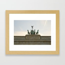 Victory, Brandenburger Gate statue Berlin Framed Art Print