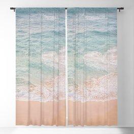 Blue Ocean Summer Beach Blackout Curtain