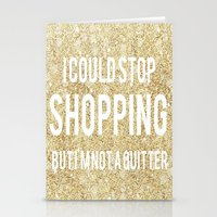shopping Stationery Cards featuring Shopping by LuxuryLivingNYC