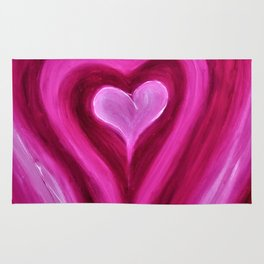 HEALING HEART - Abstract Heart Oil Painting Rug