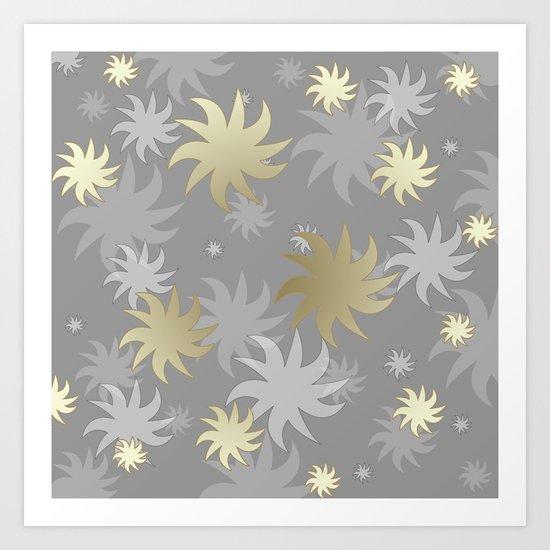 CHRISTMAS STARS 03 Art Print