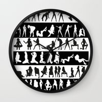 girls Wall Clocks featuring Girls by eARTh