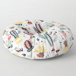 Cacti in a Flower Pot Floor Pillow