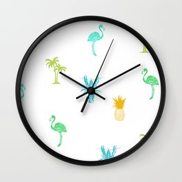 Tropical Delight (orange) Wall Clock