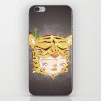 hiccup iPhone & iPod Skins featuring DRUNKEN TIGAAAAR by PAUL PiERROt