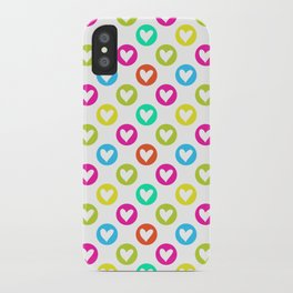 Colorful hearts  iPhone Case