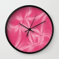 bow Wall Clocks featuring Bow by AlexinaRose
