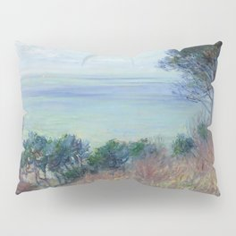 """Claude Monet """"La côte de Varengeville (The coast of Varengeville)"""" Pillow Sham"""