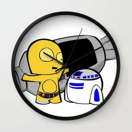 C3PO, R2 & the Escape Pod Wall Clock